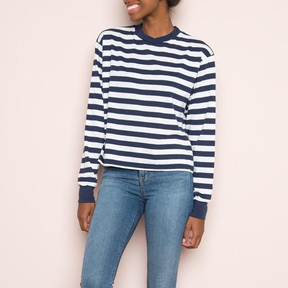 488ab575203 Brandy Melville Tops   Striped Long Sleeve Gretchen Top   Poshmark